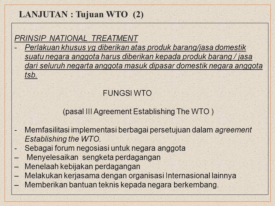 KEANGGOTAAN -Keanggotaan WTO meliputi hampir seluruh negara di dunia ( quasi – Uni versal ) -Negara-negara anggota WTO mewakili 92 % populasi global dan 95 % dari total perdagangan dunia.