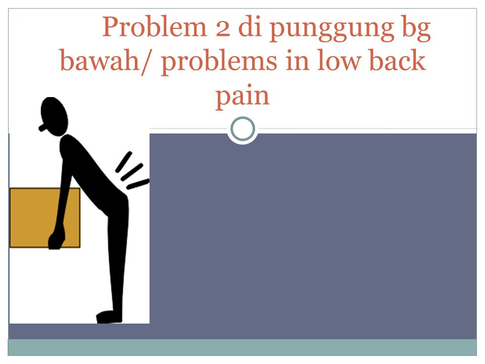 Problem 2 di punggung bg bawah/ problems in low back pain