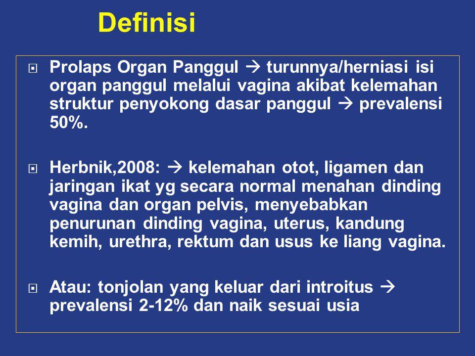 PENUNJANG ANATOMI Levator ani MUSKULER Komplek lig kardinal dan sakrouterina LIGAMEN Endo pelvis (puboservikal dan rektovaginal FASIA