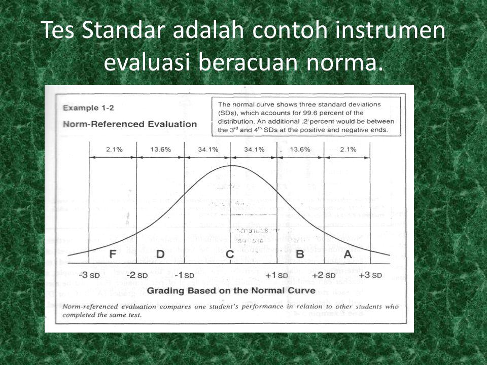 Gabungan CRE dan NRE Norm-referenced evaluation dan Criterion-referenced evaluation dapat digunakan bersama-sama, disebut Penilaian Acuan Gabungan (PAG) CRE dapat digunakan untuk menentukan tingkat terendah kinerja yang dapat diterima, dan NRE dapat digunakan untuk menentukan kualitas kinerja di atas tingkat terendah.