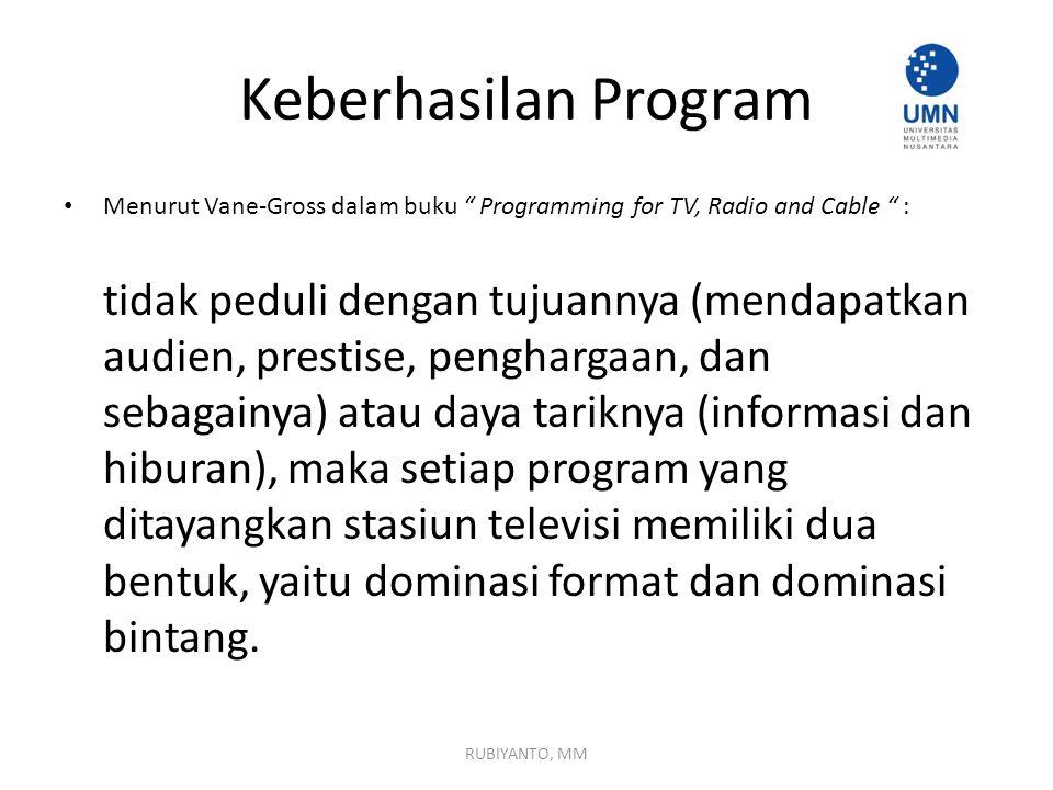 konsistensi Suatu program harus konsisten terhadap tema dan karakter pemain yang dibawa sejak awal.