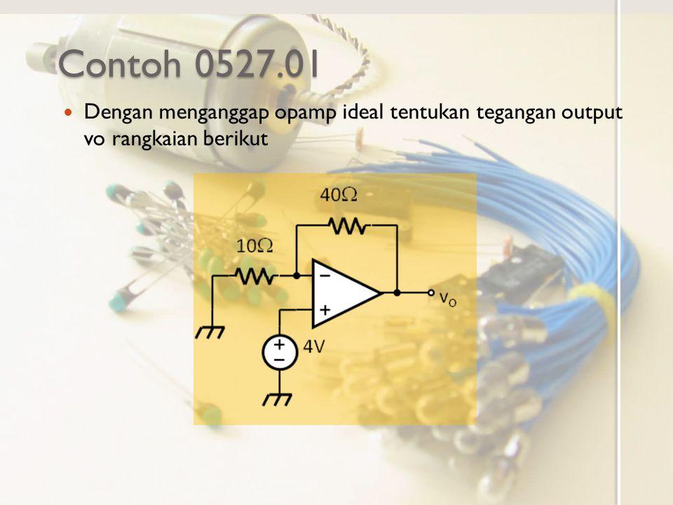 Contoh 0527.01 Dengan menganggap opamp ideal tentukan tegangan output vo rangkaian berikut