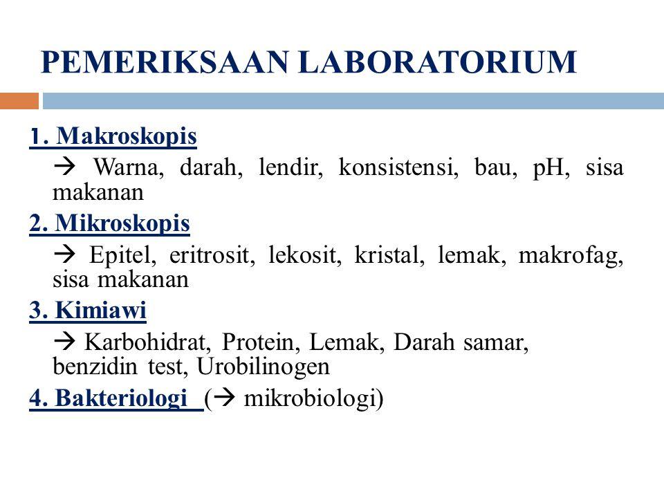 PEMERIKSAAN LABORATORIUM 1.