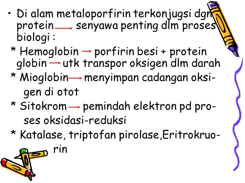 Biosintesis heme : 1. Sintesis porfirin 2. Sintesis heme