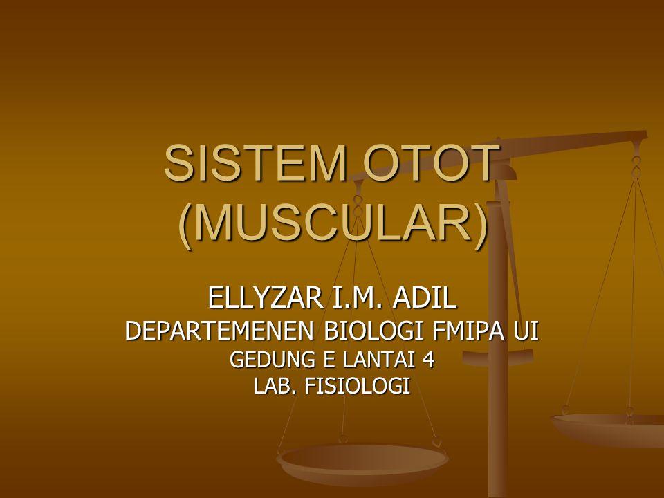 SISTEM OTOT (MUSCULAR) ELLYZAR I.M. ADIL DEPARTEMENEN BIOLOGI FMIPA UI GEDUNG E LANTAI 4 LAB. FISIOLOGI