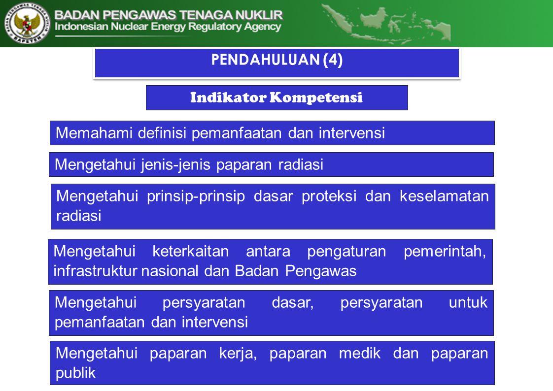 Infrastruktur Nasional Elemen penting Peraturan perundang-undangan (legislation dan regulation) Sumber daya yang mencukupi dan personil yang kompeten Badan Pengawas yang memberi lisensi dan menginspeksi kegiatan yang diatur dan untuk melakukan penegakan hukum