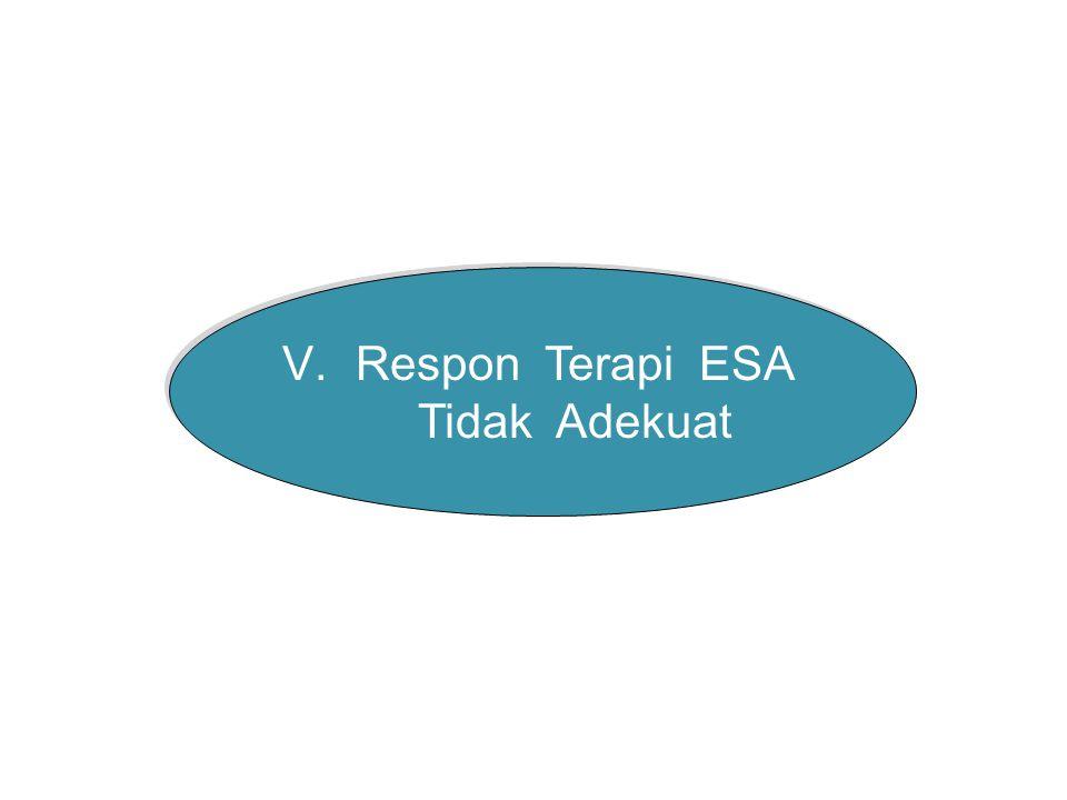 V.Respon Terapi ESA Tidak Adekuat