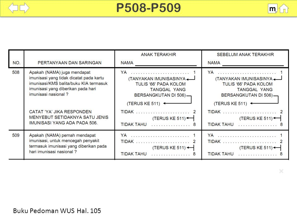 100% SDKI 2012 P508-P509 m Buku Pedoman WUS Hal. 105