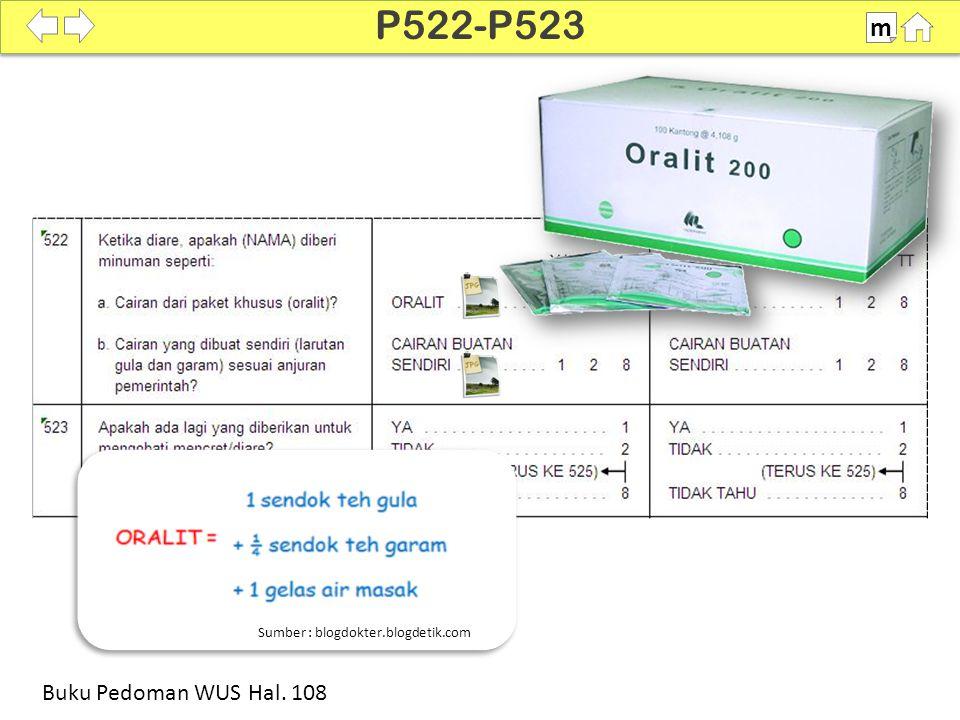 100% SDKI 2012 P522-P523 m Buku Pedoman WUS Hal. 108 Sumber : blogdokter.blogdetik.com