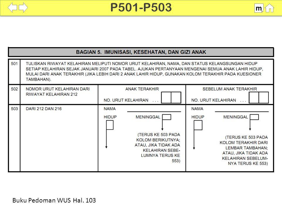 100% SDKI 2012 P501-P503 m Buku Pedoman WUS Hal. 103