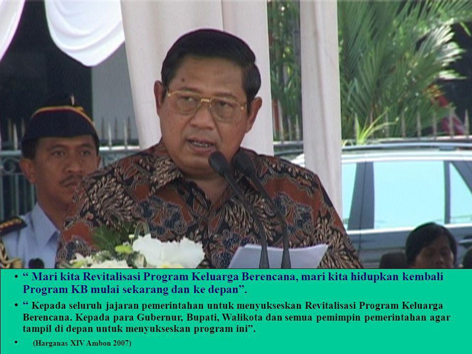 Kebijakan Peningkatan Program KB melalui Pelayanan di Rumah Sakit Dr. Basir Palu, Sp A. MHA Deputi KB dan Kesehatan Reproduksi BKKBN