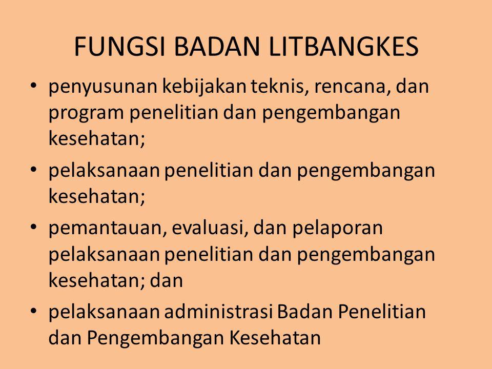 Jumlah Pejabat Struktural dan Fungsional di Badan Litbangkes