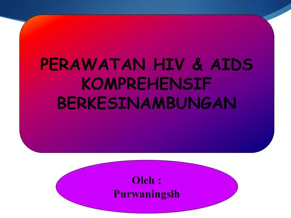 PERAWATAN HIV & AIDS KOMPREHENSIF BERKESINAMBUNGAN Oleh : Purwaningsih