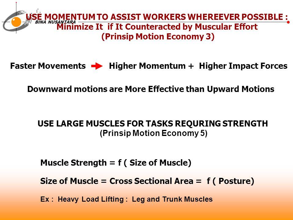 BINA NUSANTARA 16.Use the Lowest Practical Classification of Movement 17.