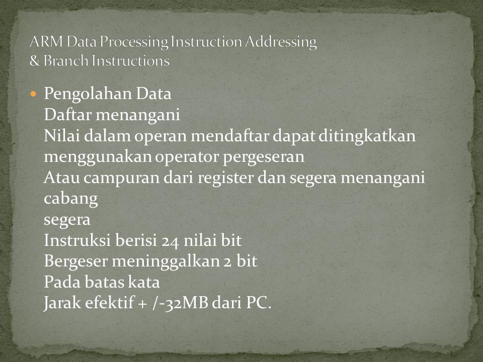 Pengolahan Data Daftar menangani Nilai dalam operan mendaftar dapat ditingkatkan menggunakan operator pergeseran Atau campuran dari register dan seger