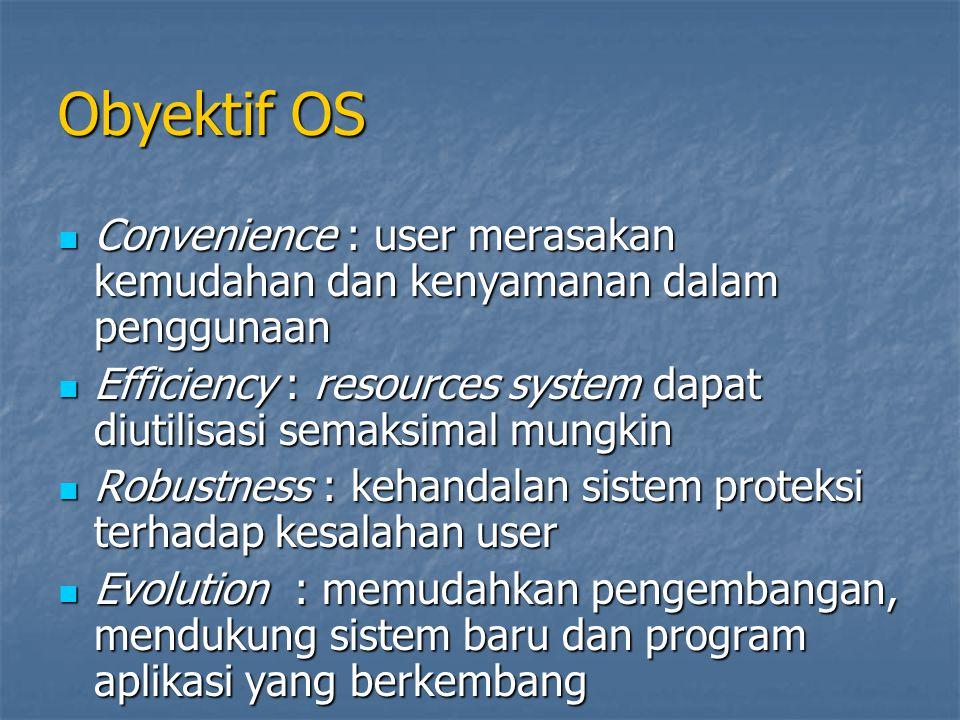 Obyektif OS Convenience : user merasakan kemudahan dan kenyamanan dalam penggunaan Convenience : user merasakan kemudahan dan kenyamanan dalam penggun