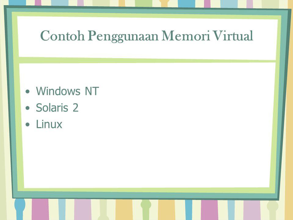 Contoh Penggunaan Memori Virtual Windows NT Solaris 2 Linux
