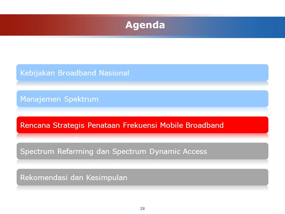 28 Agenda