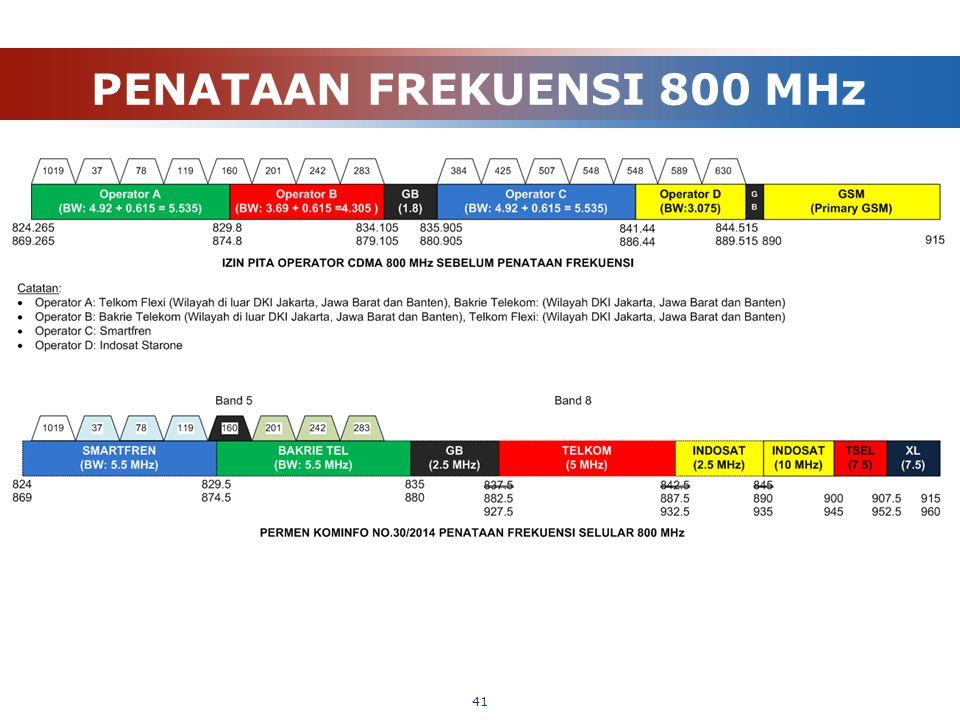 PENATAAN FREKUENSI 800 MHz 41