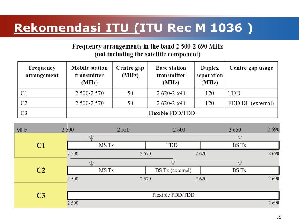 Rekomendasi ITU (ITU Rec M 1036 ) 51
