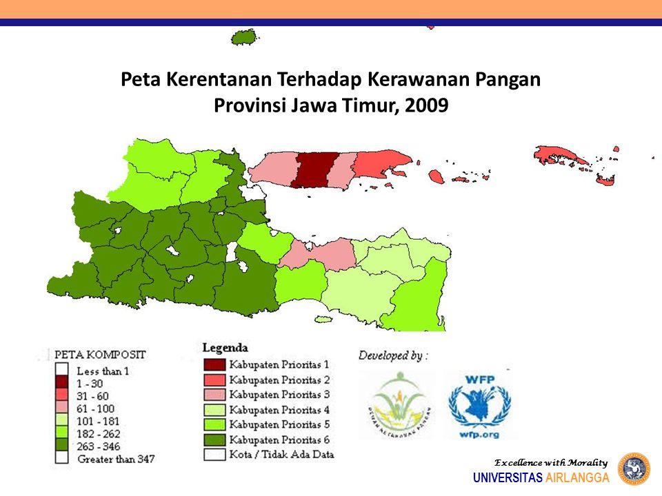 Peta Kerentanan thd Kerawanan Pangan, P. Jawa, 2009 Excellence with Morality UNIVERSITAS AIRLANGGA