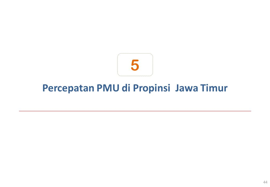 Percepatan PMU di Propinsi Jawa Timur 44 5