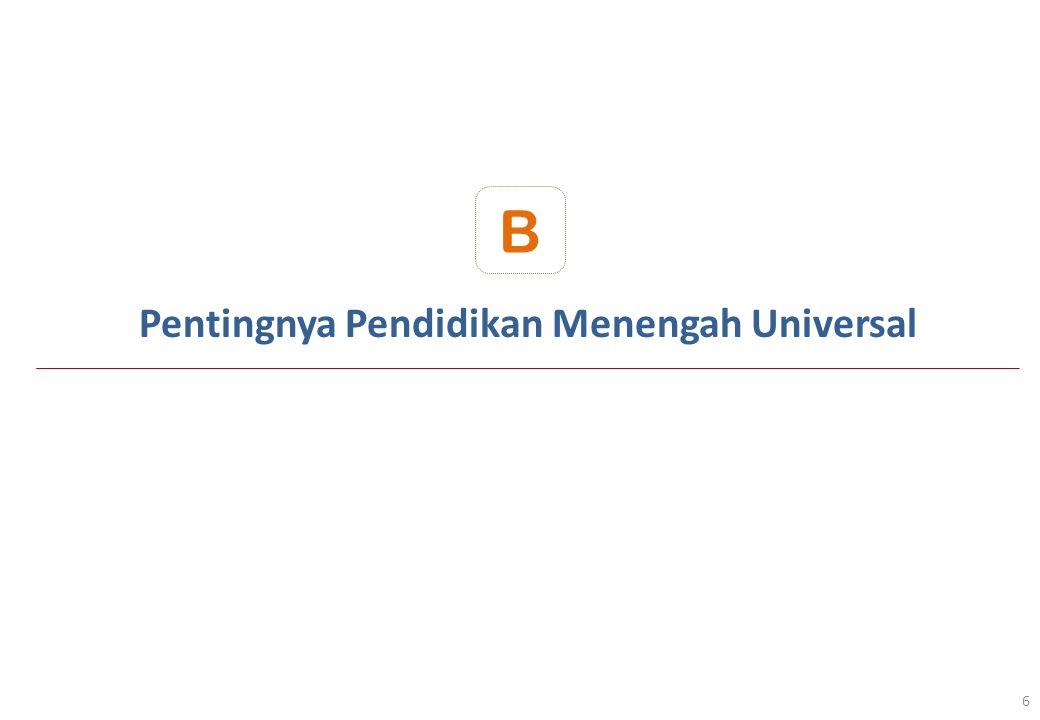Kebutuhan Anggaran PMU Tahun 2013-2020 Propinsi Jawa Timur 47 Catatan : Kebutuhan Sasaran dan Anggaran PMU tersebut mencakup untuk SMA, dan SMK 1 USB terdiri dari 6 RKB dan Ruang Penunjang Lainnya (R.
