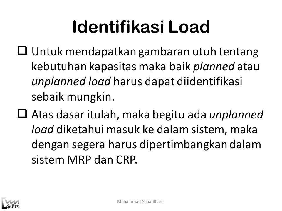 Identifikasi Load  Untuk mendapatkan gambaran utuh tentang kebutuhan kapasitas maka baik planned atau unplanned load harus dapat diidentifikasi sebaik mungkin.
