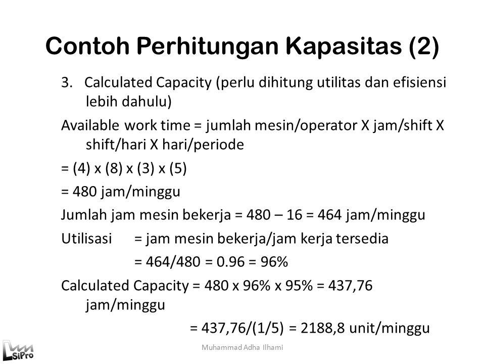 Contoh Perhitungan Kapasitas (2) Muhammad Adha Ilhami 3.