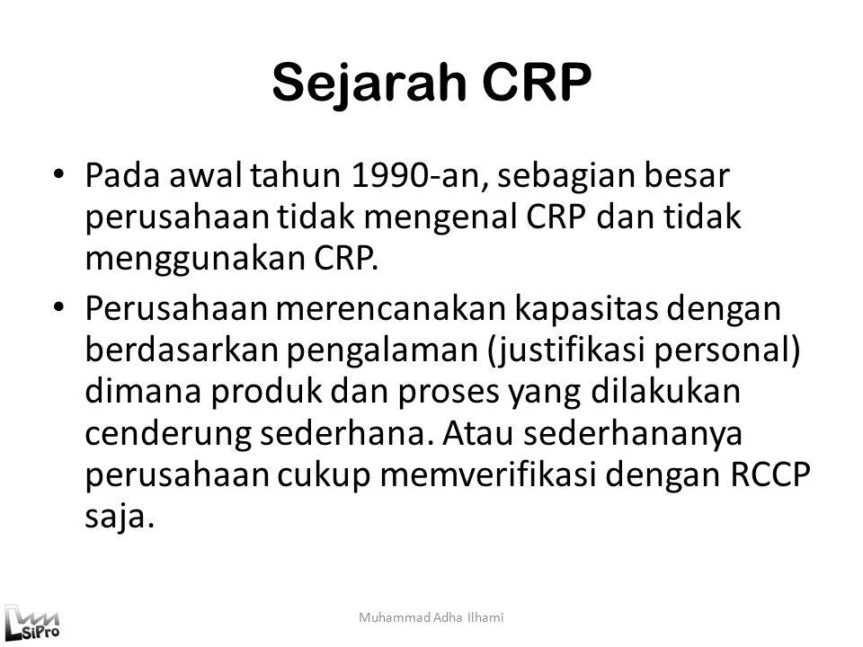 Sejarah CRP Muhammad Adha Ilhami Pada awal tahun 1990-an, sebagian besar perusahaan tidak mengenal CRP dan tidak menggunakan CRP.
