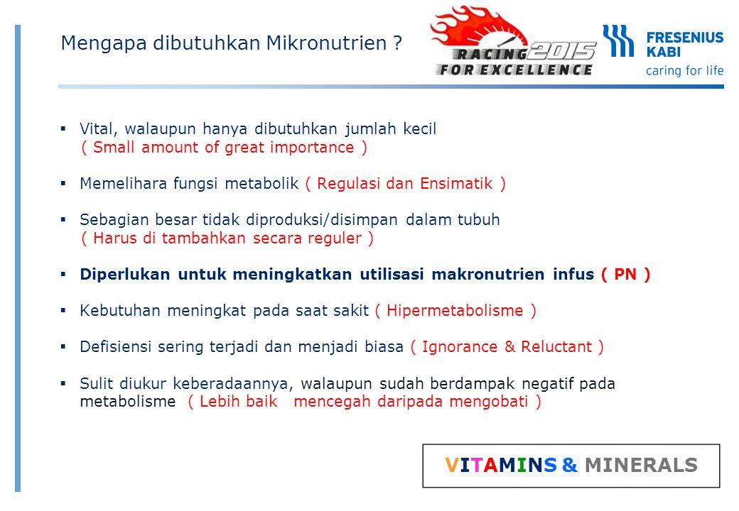 7 Ref: Berger & Shenkin, 2006, 2004 Mengapa mikronutrien diperlukan untuk pemanfaatan makronutrien secara efisien .