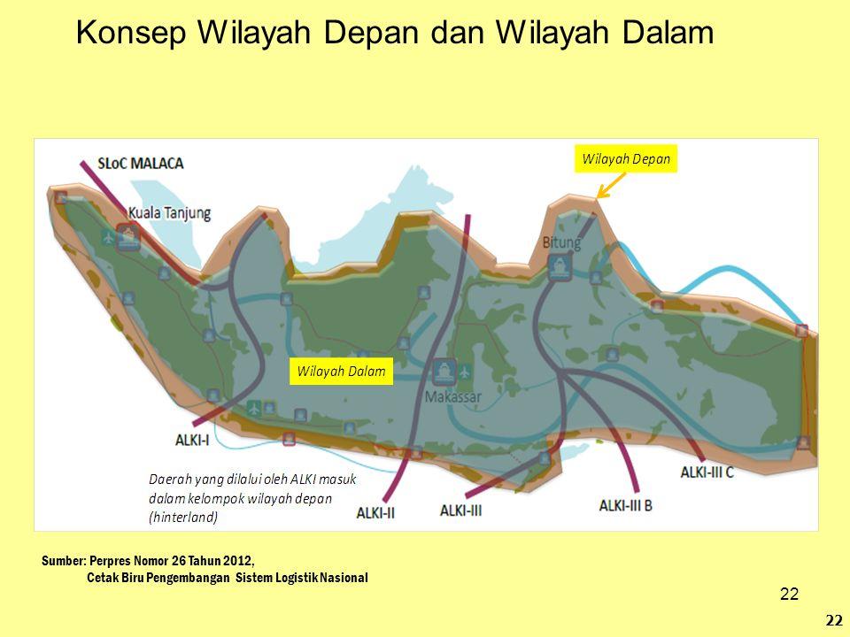 22 Konsep Wilayah Depan dan Wilayah Dalam 22 Sumber: Perpres Nomor 26 Tahun 2012, Cetak Biru Pengembangan Sistem Logistik Nasional