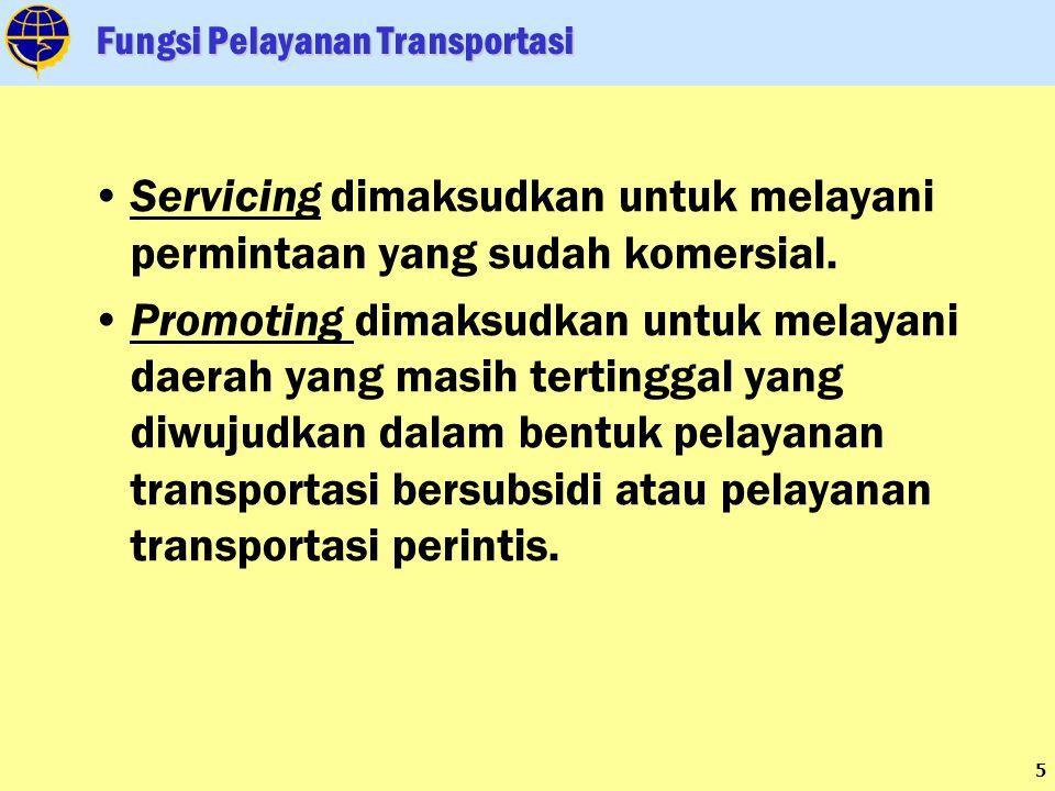 26 Terwujudnya Pelayanan Transportasi Yang Handal, Berdaya Saing dan Memberikan Nilai Tambah 2010 EKONOMI (5,5%) TRANSPORTASI (8,25%) PEMBIAYAAN 272,04 T PAGU DEFINITIF: 17,569 T 2011 EKONOMI (6,0%) TRANSPORTASI (9,0%) PEMBIAYAAN 294,46 T PAGU DEFINITIF: 22,11 T 2012 EKONOMI (6,4%) TRANSPORTASI (9,6%) PEMBIAYAAN 320,96 T PAGU INDIKATIF: 22,781 T 2013 EKONOMI (6,7%) TRANSPORTASI (10,05%) PEMBIAYAAN 351,77 T PAGU INDIKATIF : 27,77 5 2014 EKONOMI (7,0%) TRANSPORTASI (10,5%) PEMBIAYAAN 387,12 T PAGU INDIKATIF : 30,984 T TARGET PERTUMBUHAN DAN PEMBIAYAAN TRANSPORTASI SESUAI RENSTRA 2010-2014 Meningkatnya aksebilitas transportasi di daerah terpencil, pulau-pulau kecil dan kawasan perbatasan negara Terwujudnya kerjasama luar negeri bidang perhubungan yang saling menguntungkan serta dapat menarik investasi yang dapat memberikan nilai tambah Terjaminnya keselamatan dan keamanan dalam pelayanan jasa transportasi Terjangkaunya pelayanan transportasi ke seluruh wilayah perbatasan Tersedianya prasarana dan sarana transportasi dengan kapasitas dan kualitas pelayanan memadai; SASARAN PEMBANGUNAN TRANSPORTASI Visi Transportasi