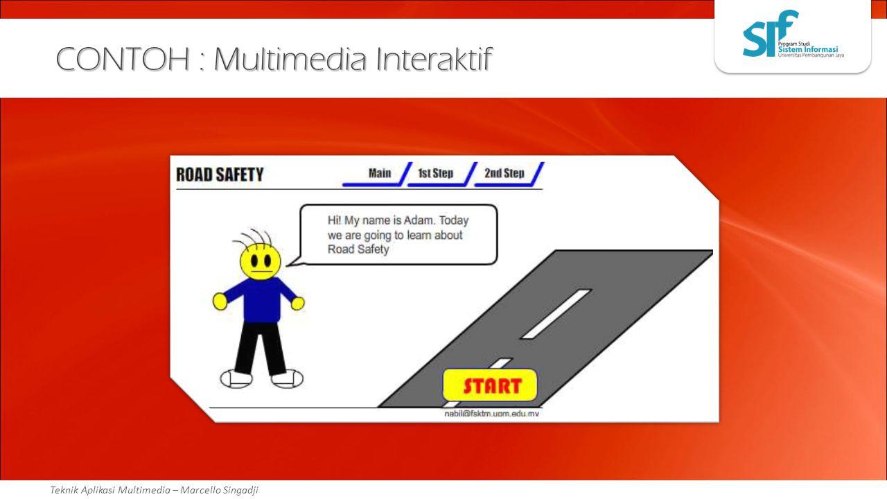 Teknik Aplikasi Multimedia – Marcello Singadji CONTOH : Multimedia Interaktif