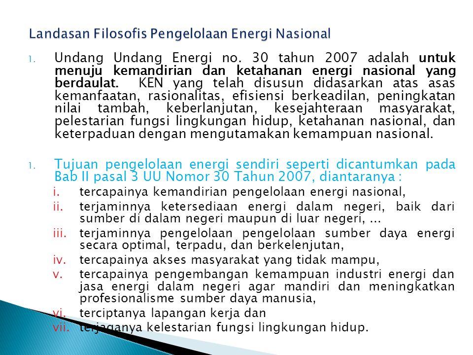 1.Undang Undang Energi no.