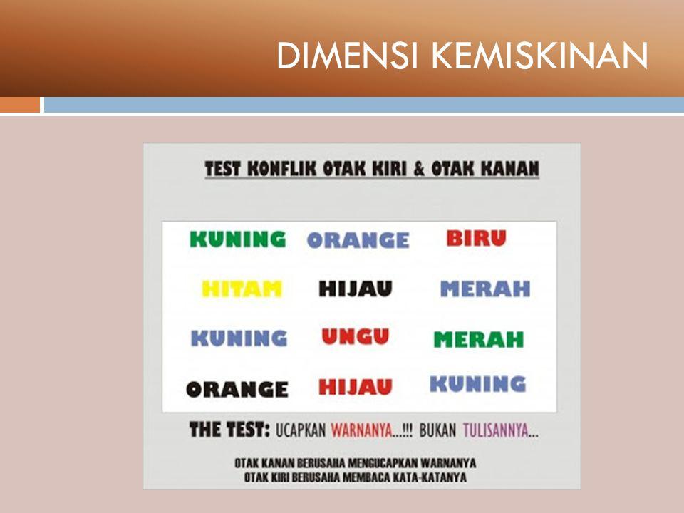DEFINISI UMUM KEMISKINAN (1) KEMISKINAN ADALAH MASALAH MULTI DIMENSIONAL.