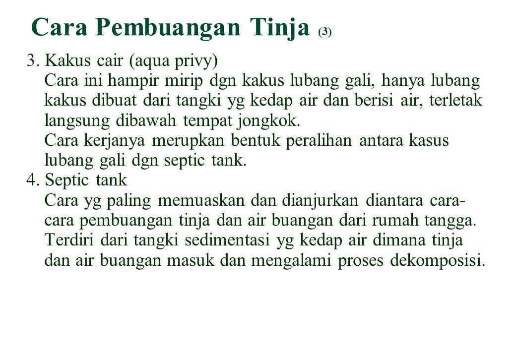 Cara Pembuangan Tinja (3) 3.