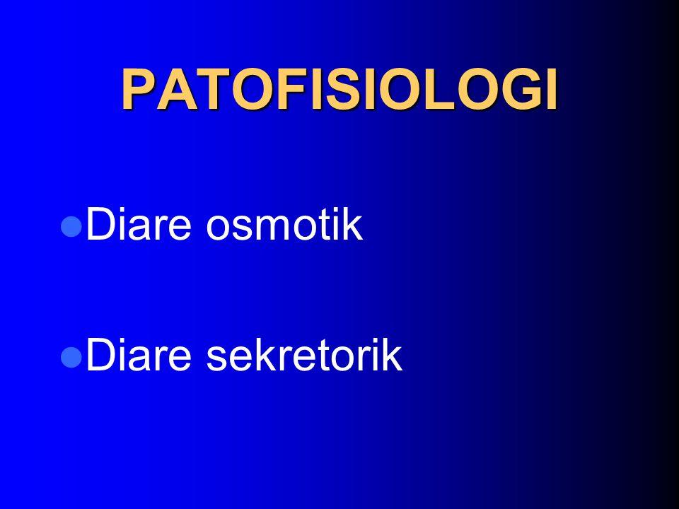 PATOFISIOLOGI Diare osmotik Diare sekretorik