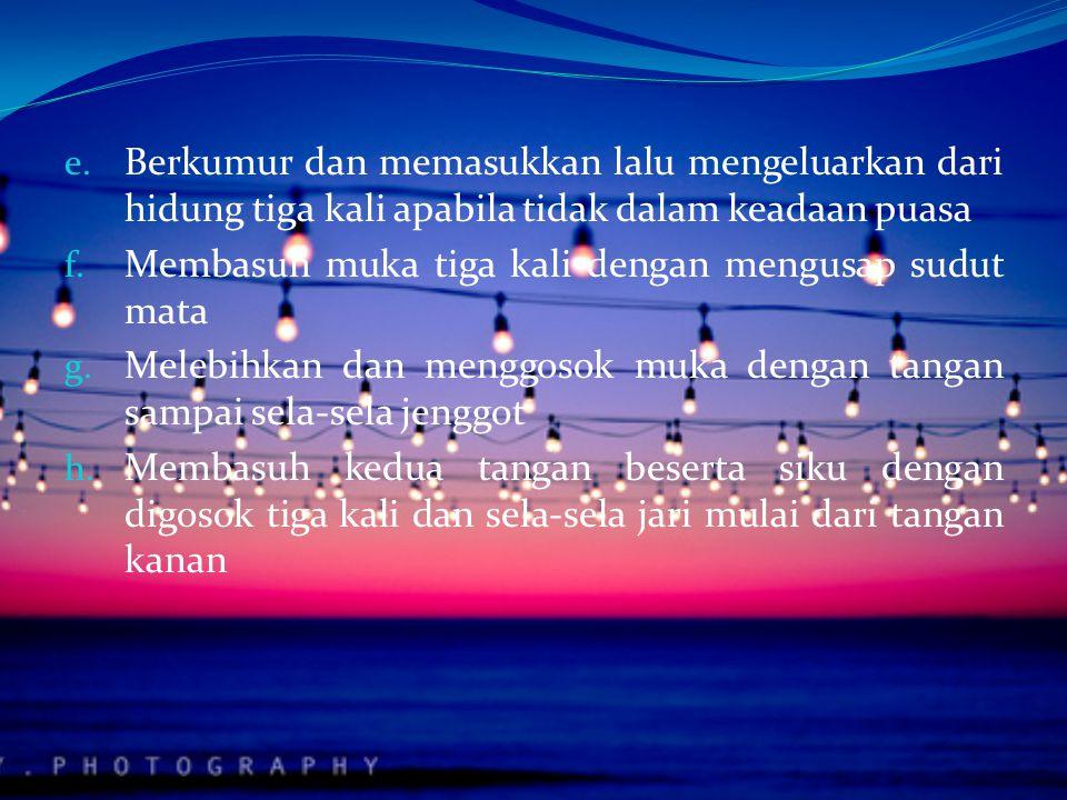"""Cara mensucikan Hadas 1. Wudlu Dalam buku Himpunan Putusan Tarjih, dijelaskan bahwa cara berwudlu sebagai berikut: a. Baca """"Bismillahirrahmanirrahim b"""