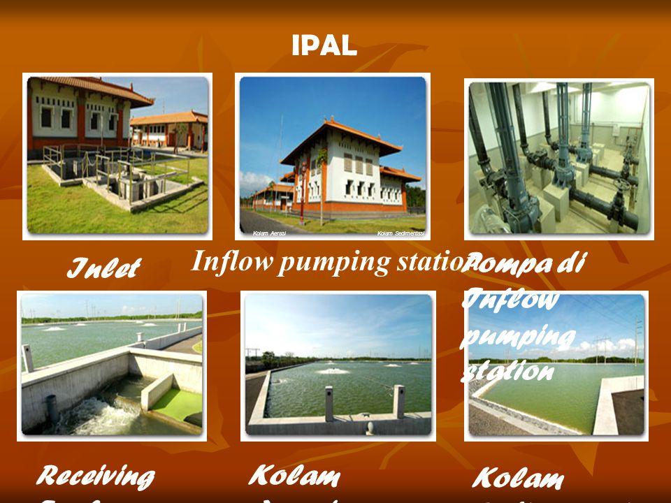 IPAL Inlet Inflow pumping station Pompa di Inflow pumping station Receiving Tank Kolam Aerasi Kolam Sedimentasi