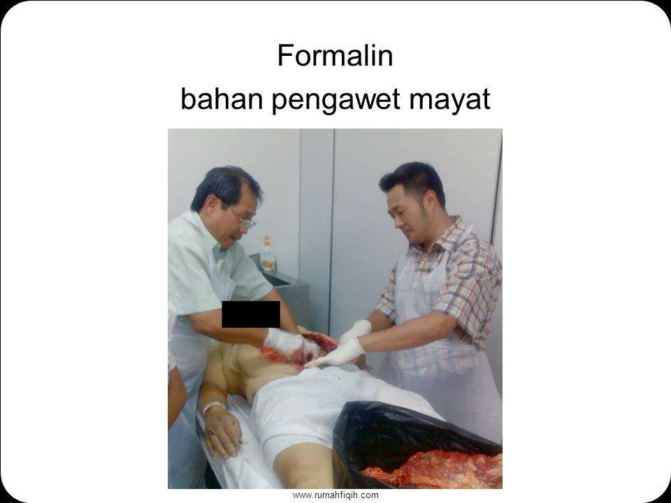 www.rumahfiqih.com Formalin bahan pengawet mayat