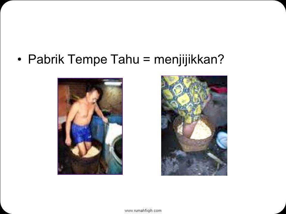 www.rumahfiqih.com Pabrik Tempe Tahu = menjijikkan?