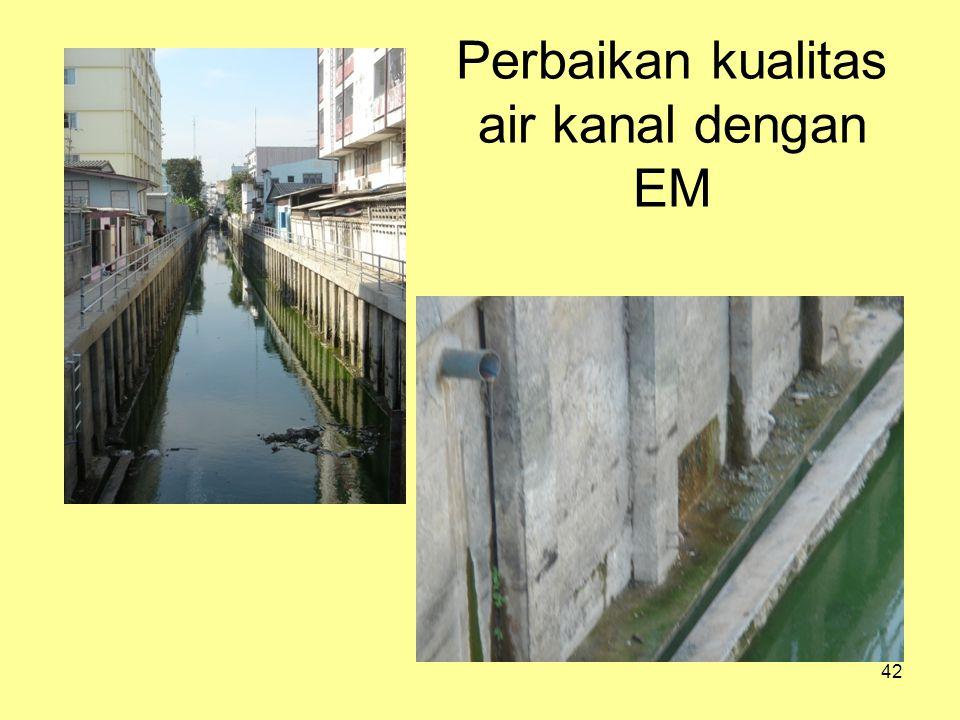 42 Perbaikan kualitas air kanal dengan EM