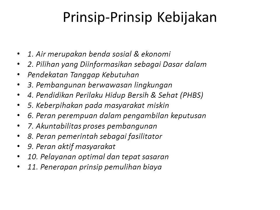 Prinsip-Prinsip Kebijakan 1. Air merupakan benda sosial & ekonomi 2.