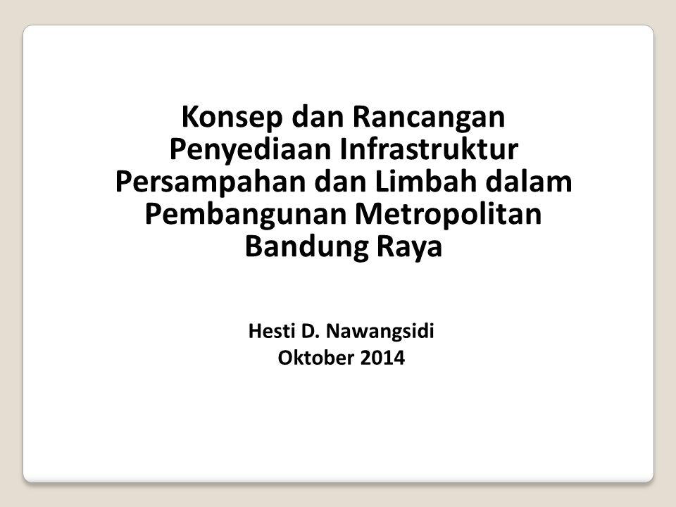 Konsep dan Rancangan Penyediaan Infrastruktur Persampahan dan Limbah dalam Pembangunan Metropolitan Bandung Raya Hesti D. Nawangsidi Oktober 2014