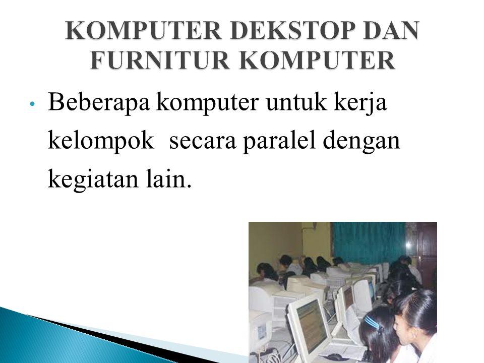 Desain ruang kelas dilengkapi komputer dekstop ada 3 model: Seorang guru komputer dengan proyektor. KOMPUTER DEKSTOP DAN FURNITUR KOMPUTER
