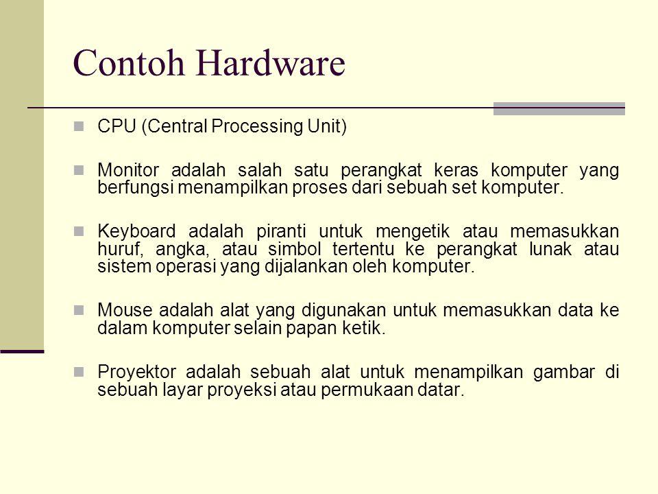 PERANGKAT KERAS KOMPUTER Pengertian : semua bagian fisik komputer, yang dibedakan dengan data yang berada dan yang beroperasi di dalamnya dan terdapat juga perangkat lunak (software) yang menyediakan instruksi untuk perangkat keras dalam menyelesaikan tugasnya.