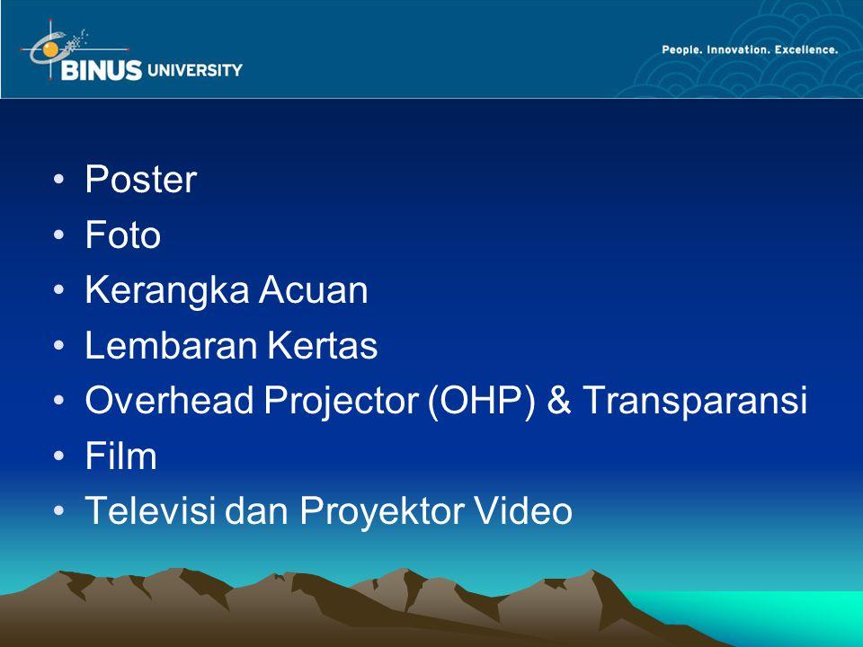 Poster Foto Kerangka Acuan Lembaran Kertas Overhead Projector (OHP) & Transparansi Film Televisi dan Proyektor Video