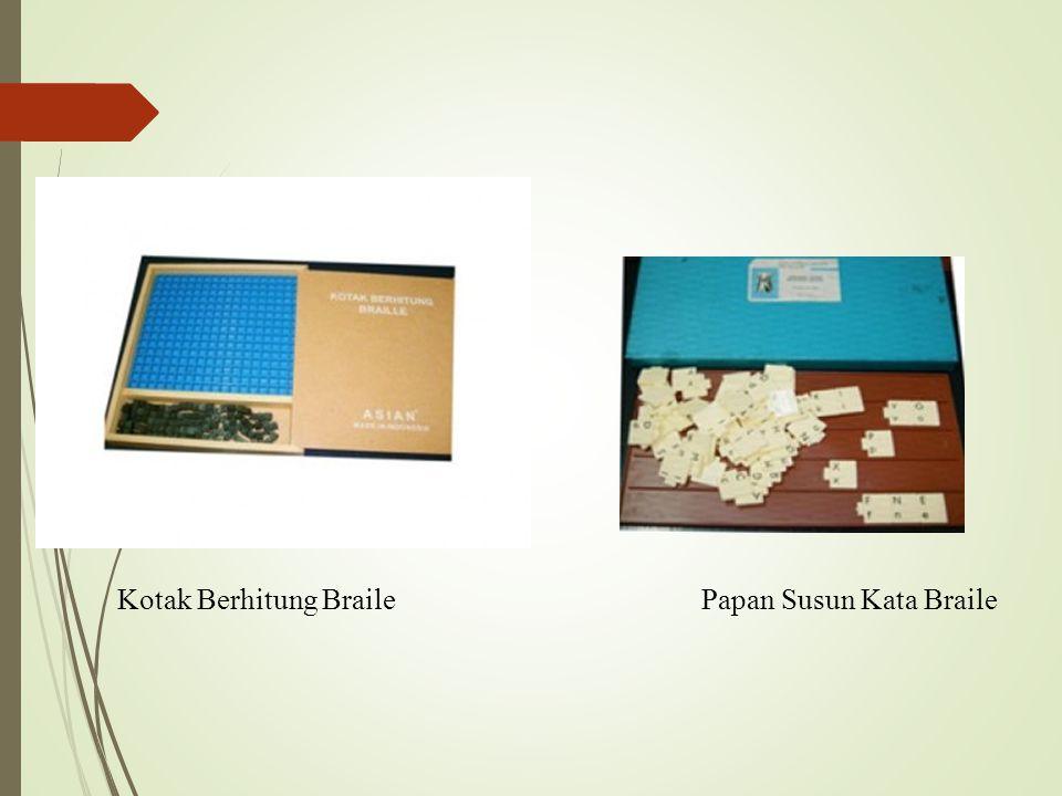 Kotak Berhitung Braile Papan Susun Kata Braile