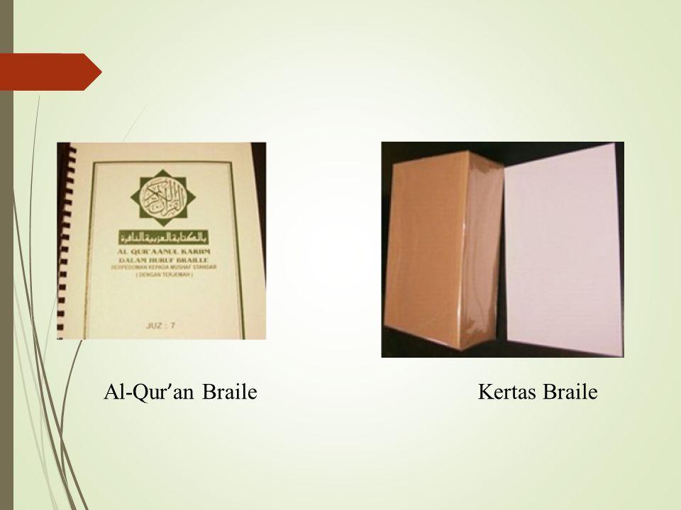 Al-Qur ' an BraileKertas Braile